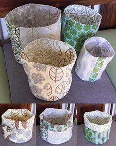Awesome cloth baskets.