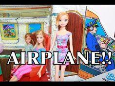 FROZEN AIRPLANE Play-Doh Barbie Vacation Parody Princess Anna Plane AllToyCollector