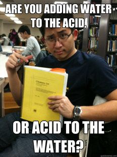 Are you adding water to the acid?