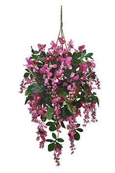 Arcadia Silk Plantation Extra Full Artificial Wisteria Hanging Basket >>> You can find more details by visiting the image link.