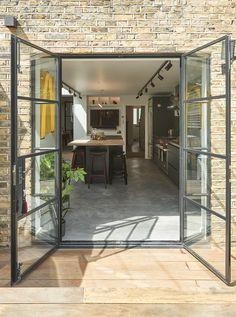 Aluminium French Doors, Crittal Doors, External Doors, Garden Doors, Facade Architecture, Back Doors, Oversized Mirror, This Is Us, Interior Decorating