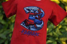Personalized Spiderman Kids Birthday Shirt. $23.50, via Etsy.