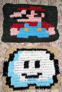 Mario Bros y Cloudy para la manta 8 bit