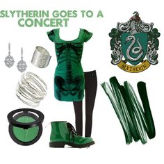 """""""Slytherin goes to a Concert"""" by sad-samantha on Polyvore"""