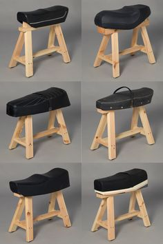 """Vespa cavallet (Ana Mir & Emili Padrós, 2004): a """"Ready made"""" stool. Every stool is different depending on the scooter make, year and model."""