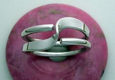 Two Turn Wave Energy Ring in Sterling Silver by isidro on Etsy
