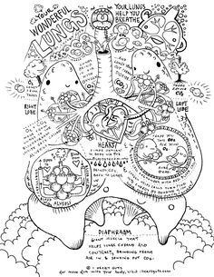 RESPIRATORY SYSTEM COLORING SHEET I HEART GUTS                                                                                                                                                                                 More