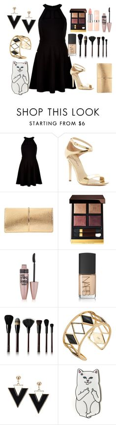 """Untitled #52"" by bellacala ❤ liked on Polyvore featuring New Look, Via Spiga, Nina Ricci, Tom Ford, Maybelline, NARS Cosmetics, Kevyn Aucoin, Rebecca Minkoff, RIPNDIP and men's fashion"