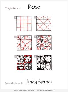 How to draw ROSÉ by Linda Farmer « TanglePatterns.com