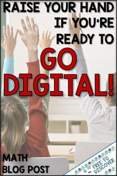 Ready or not, it's time to go digital in the math classroom!  Now with remote learning more prevalent than ever, we must embrace technology as a tool for our students.  Read about how one non-techy teacher incorporated digital scavenger hunts into her curriculum during distance learning.  Demonstrates activities perfect for middle school or high school math classrooms.  Blog post by Free to Discover. Math Teacher, Math Classroom, Teaching Math, Teacher Resources, Middle School, Back To School, High School, Brain Based Learning, 7th Grade Math