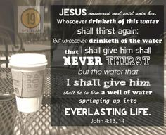 Click to read today's #thruthebible reading Living Water John 4:13 Christian tee shirts.jpg 19 Upstream Christian T-shirts