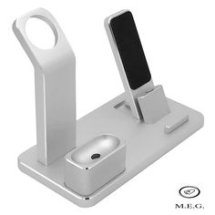 4 in 1 Charging Stand Aluminum Alloy Multifunctional Charging Docks Holder for Apple Watch AirPods iPhone iPad (Silver) Apple Watch 1, Airpods Apple, Apple Watch Accessories, Ipad Accessories, Charger Holder, Wearable Device, Video Games For Kids, Docking Station, Apple Products