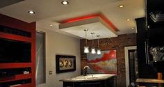 False ceiling pop designs with LED ceiling lighting ideas for living room part 1