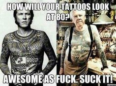 How will your tattoos look at 80?