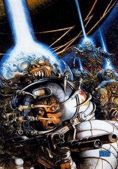 Artwork by Argentine comic book artist Juan Giménez Arte Sci Fi, Sci Fi Art, Arte Horror, Horror Art, Space Girl, Bd Comics, Science Fiction Art, Pulp Art, Comic Book Artists