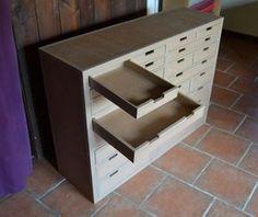 Tiroirs meuble carton                                                                                                                                                      Plus