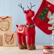 Nordic Large Standing Red Reindeer