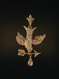 Genuine rare Georgian 2 Ct diamond sentimental bird pendant by AntiqueVelvetGloves on Etsy https://www.etsy.com/listing/233397971/genuine-rare-georgian-2-ct-diamond