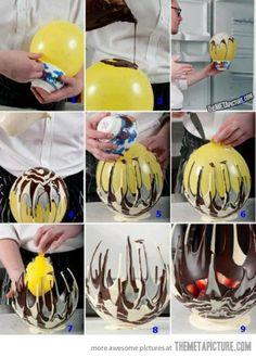 Chocolate bowls…