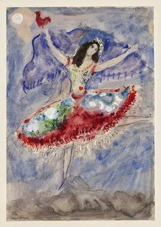 Marc Chagall, Zemphira, costume design for Aleko (Scene I), 1942, by Marc Chagall (Russian-French, 1887-1985)