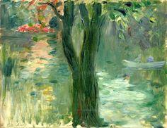 Sunset over the Lake, Bois de Boulogne (1894) Berthe Morisot (by BoFransson)