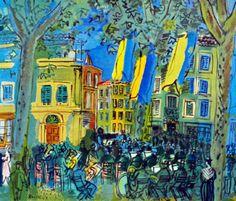 Raoul Dufy, L'orchestre à Arles  on ArtStack #raoul-dufy #art