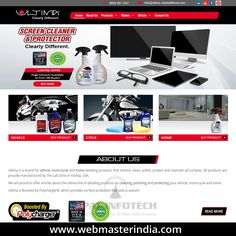 Opal Infotech launched a responsive WordPress website www.ultima-clearlydifferent.com for Ultima, USA. Ultima is a brand for vehicle, motorcycle and home detailing products that restore, clean, polish, protect and maintain all surfaces. All products are proudly manufactured by The Lab Zone in Florida, USA. To view more our responsive websites, kindly visit our portfolio on http://www.webmasterindia.com/portfolio/.  #OpalInfotech #Website #WordPress #WebsiteDevelopment #WordPressWebsite