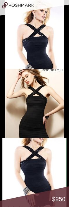 Black Sherri Hill 2955 size 4 Style number 2955. Can fit anywhere from a 2-4. Worn twice. Sherri Hill Dresses Prom