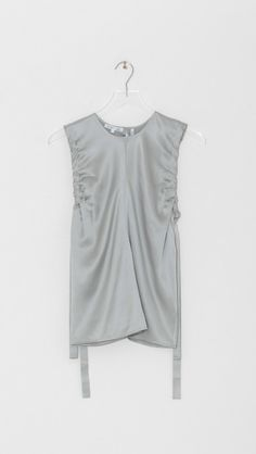 Ruched Silk Tank by Helmut Lang