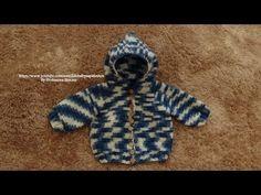 ▶ Passo a passo Casaquinho em Crochê para Bebê -Capuz-1 - YouTube