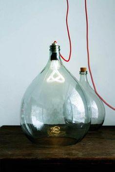 DIY Flaschenlampe  #lampe #diy #upcycle