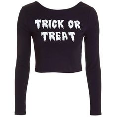Topshop 'Trick or Treat' Scoop Back Crop Top ($20) ❤ liked on Polyvore featuring tops, scoop back top, white crop top, holiday party tops, topshop and long sleeve tops