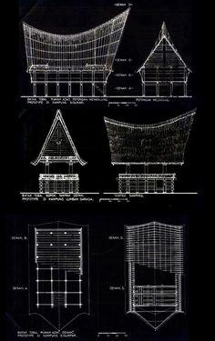 rumah adat plan section elevation - Google'da Ara