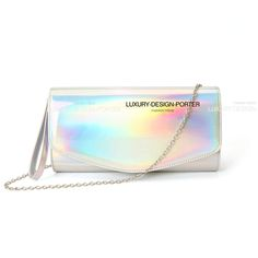 Hologram Clutch Women Handbag Handle Strap Purse Shoulder Bag IT BAG