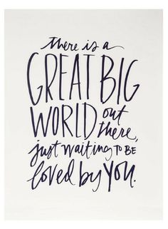 Fill your home and your heart with lots of love! Great Big World Wood Wall Decor features a quote about the vastness of the world in dark blue text against a white background. Hang this motivational MDF wall sign in a bedroom, living room, nursery, or office and go show the world what you have to offer! home decor, gallery wall decor #ad