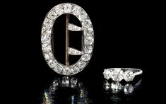 A diamond three-stone ring found in a trunk at Agatha Christie's house which is to be sold at auctioned. #AgathaChristie