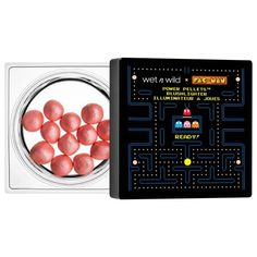 PAC-MAN Power Pellets Blushlighter Introducing the game changing formula of our Power Pellets Blushlighter. A combination of blush and highlighter, these pigmented pearls create a luminous glow that's made to level up your makeup routine! All it takes is Drugstore Makeup Dupes, Beauty Dupes, Eyeshadow Makeup, Wet N Wild Beauty, Hard Candy Makeup, Male Makeup, My Makeup Collection, Makeup To Buy, High End Makeup
