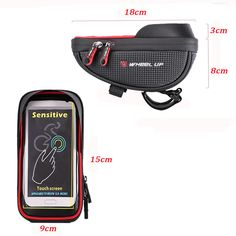 6inch Waterproof Touch Sceen Mobile Phone GPS Bag Handlebar Mouting Radar Detector, Electric Scooter, Car Audio, Automobile, Motorcycles, Touch, Phone, Bags, Accessories