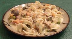 Leftover Turkey and Sweet Potato Noodle Casserole