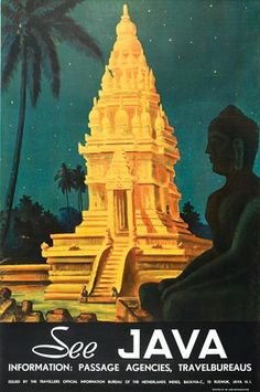 1940s See Java Travel Poster