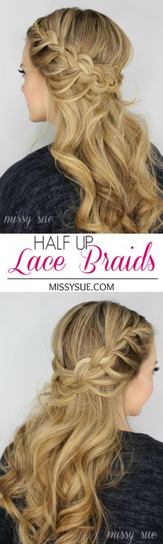 Half Up Lace Braids | Braid 5