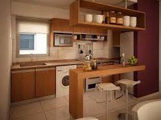 Cocinas con barra cocina y reposteros decoraci n fotos for Cocina con desayunador pequeno