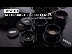 A how-to guide which teaches you how to affordably transform old film photography lenses into DSLR cinema lenses!