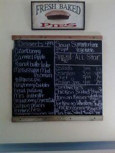 Today's menu 7/13/15