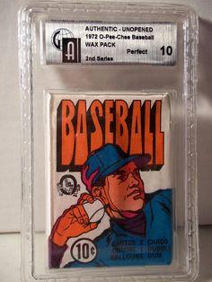 1972 O-Pee-Chee Baseball Wax Pack GAI Mint 10 MLB Collectible Cards 2nd Series #MLBCollectible