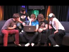 One Direction - Ask Anything..oh my I laughed so hard. Hahaha Louis 'Id tell her jokes until she laughs so hard that she urinates herself.' Hahahaha Boys: 'Dogs' Harry: 'Cats:)' hahahaah Louis: 'We don't shower.'