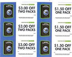 Camel crush coupons
