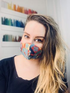 Face Mask, 100% Cotton Mask, Reusable & Washable, Double or Triple Laye Cue Mask Ear Loop, Fabric Design, The 100, Cotton, Knifes