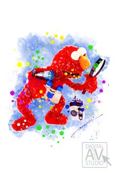 Show Elmo poster for your nursery decor. This made in technique by Digital Art Design Studio AV with much love. Can be personalized by your request. Make your room really cute! Great gift for a Muppets fans. Nursery Room Decor, Nursery Prints, Nursery Art, Wall Art Prints, Digital Prints, Digital Art, Muppet Babies, Babies Nursery, My Art Studio