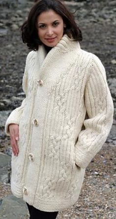 921fda5255dff1 Knitting Pattern for Ladies Chunky Knit Jacket Cardigan 46 - 66 in ...